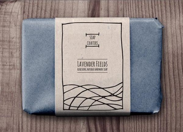 soap wrap label