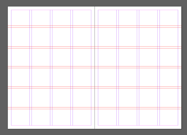 InDesign grid view