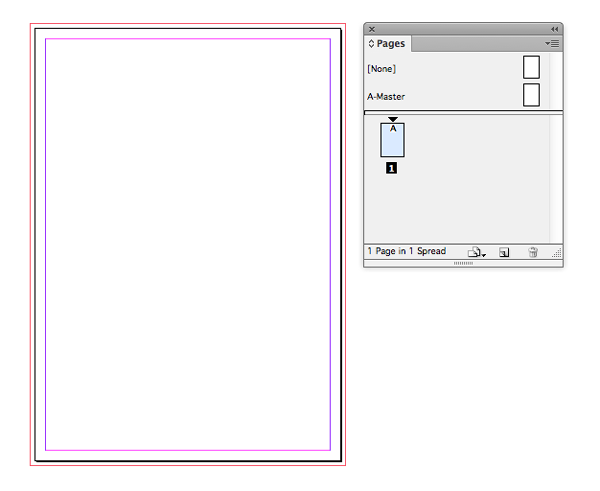 new indesign document