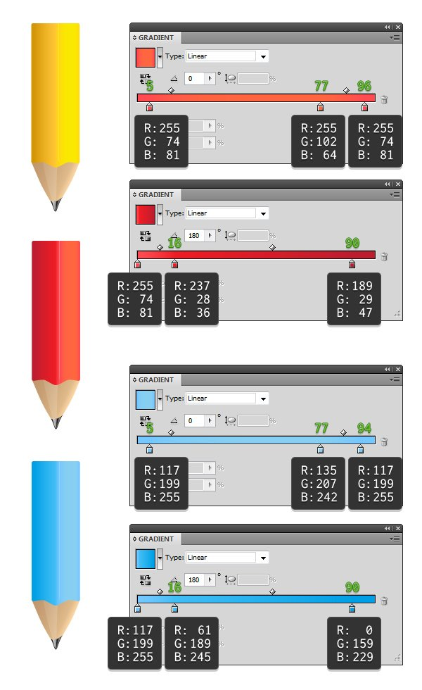 color the pencils