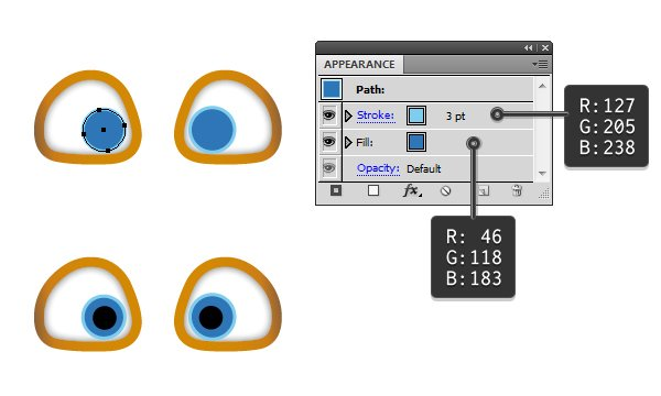create the eyes 3