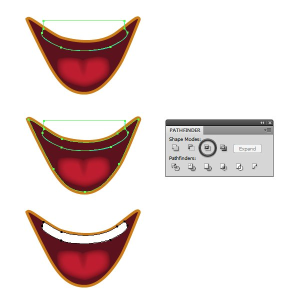 create the mouth 4