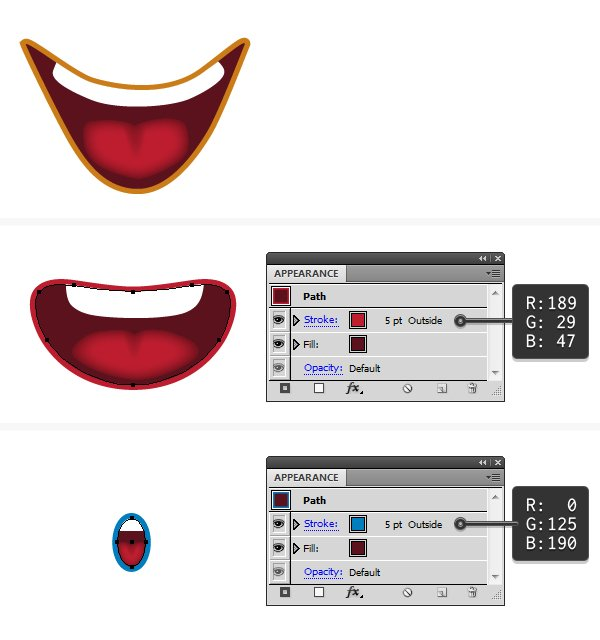 create the mouth 5
