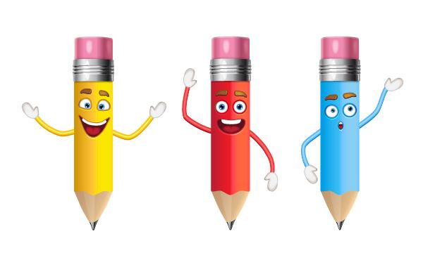 add hands to pencils