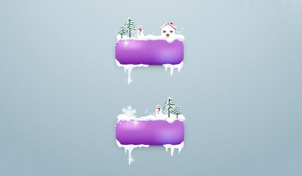 Create winter buttons 2