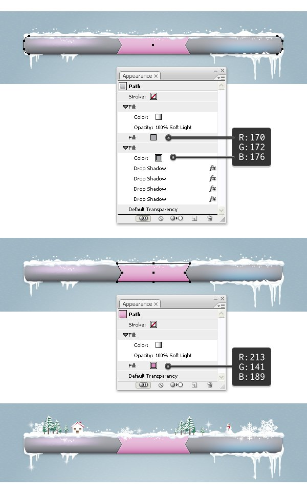 Create gray menu bar