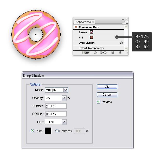 add shadow to donut