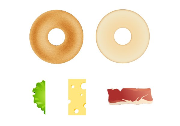 compose bagel sandwich 1