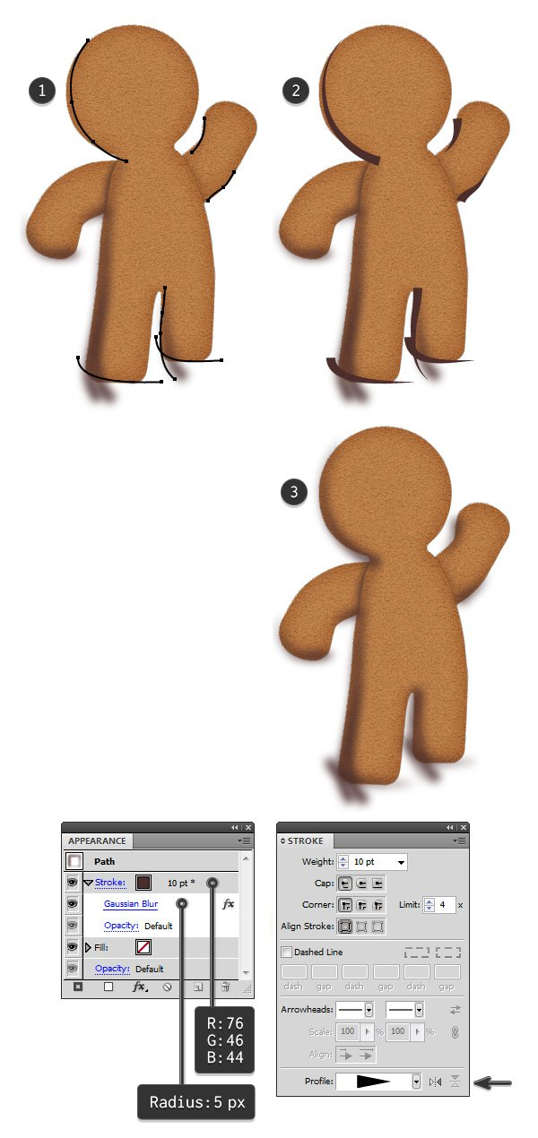add shading to gingerbread man 2