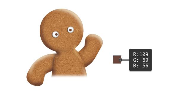 create gingerbread man eyes 2