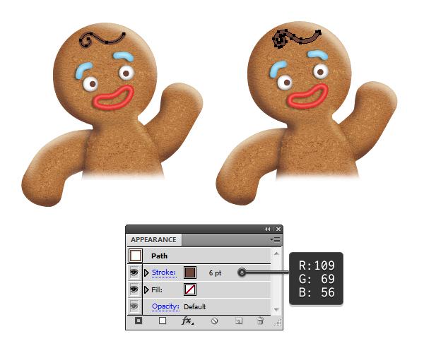create gingerbread man hair 1