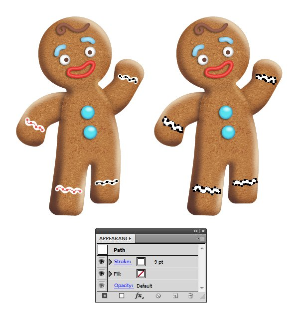 create icing on gingerbread man 1