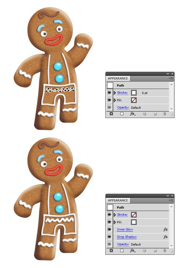 create icing on gingerbread man 5