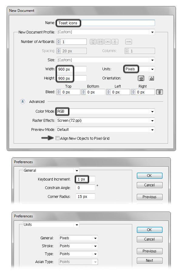 create new illustrator document