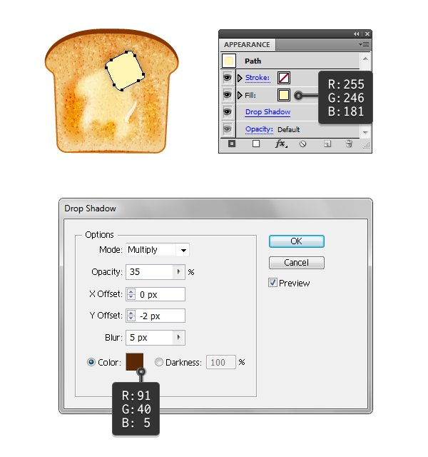 create melted butter on toast 3