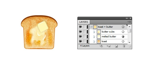 butter on toast icon