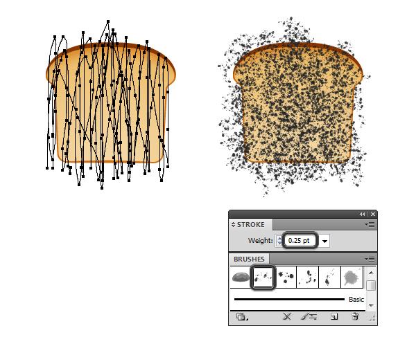 create vector bread texture 1