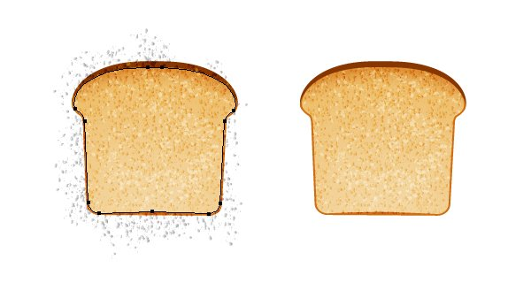 mask the vector bread texture