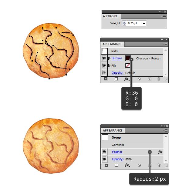 Duplicate cracks on cookie