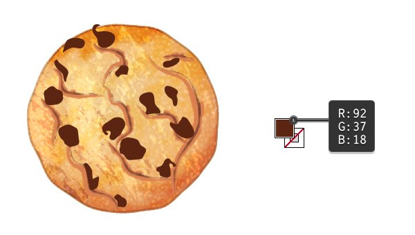 create chocolate chips on cookie