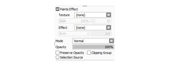 Paint Effect Panel