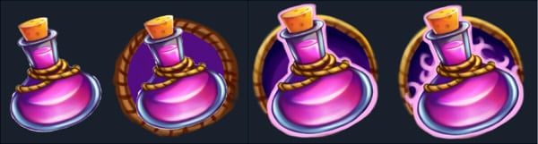 Working on icon with sphere shaped potion