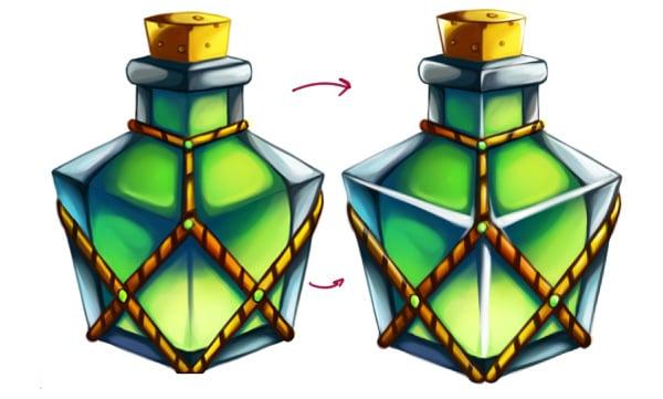Highlighting bottle and more detalization