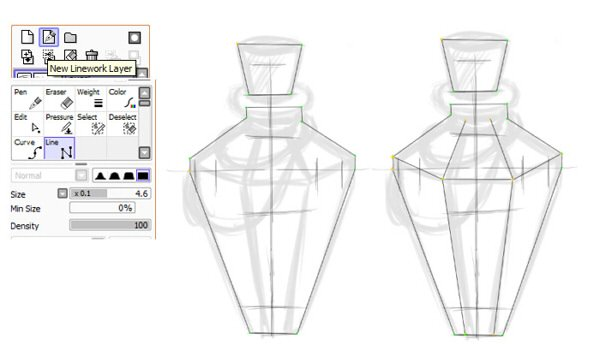 Using vector tools for basic shape