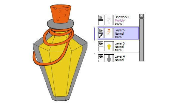 Base colors for every part of potion