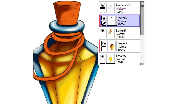 Coloring layers Clipping Groups