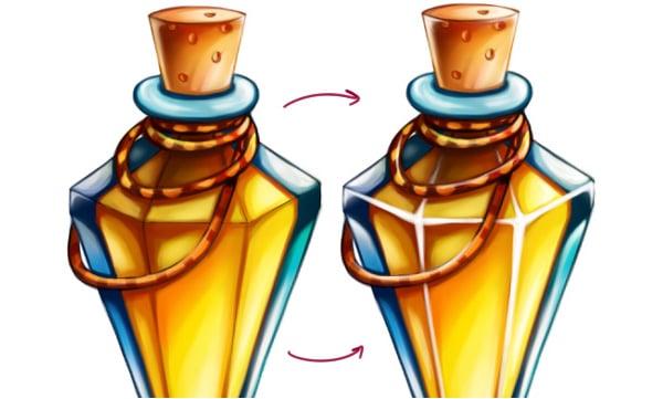 Highlighting potion and adding volume