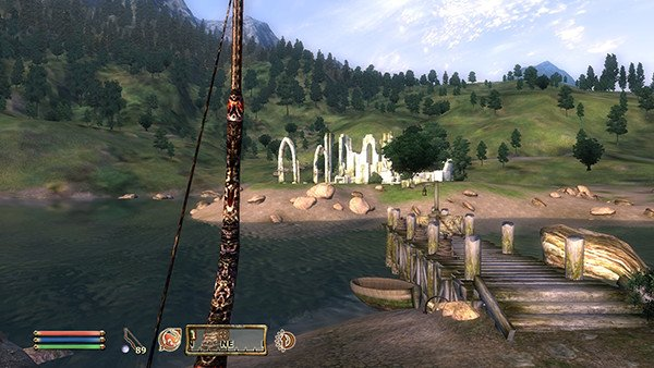 The View from outside the tutorial dungeon in Elder Scrolls Oblivion