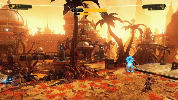 The planet Gaspar from Ratchet Clank