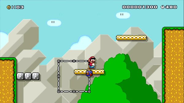 Mario level challenge with two moving platforms