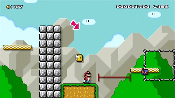 An expansion challenge in a Mario level