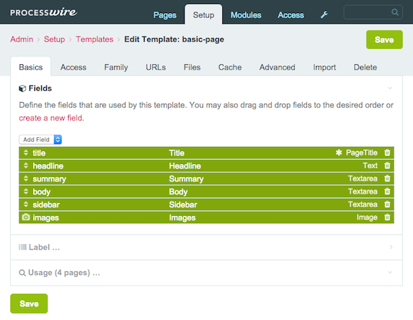 ProcessWrite templates