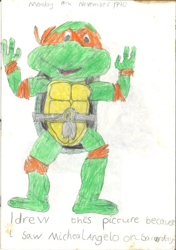 ninja turtle drawing shane smith