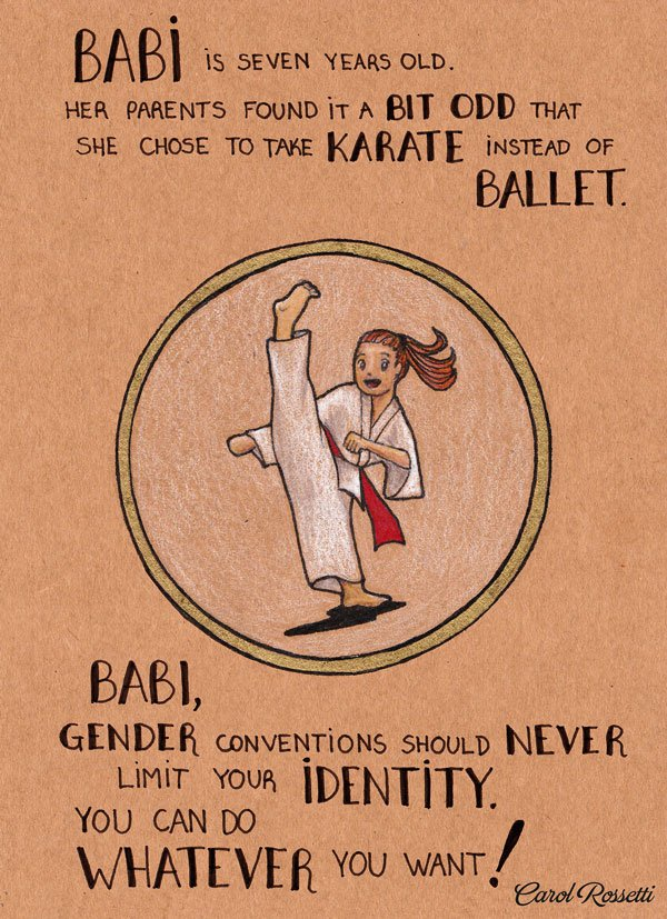 A part of Rossettis Women series featuring the karate practicing Babi