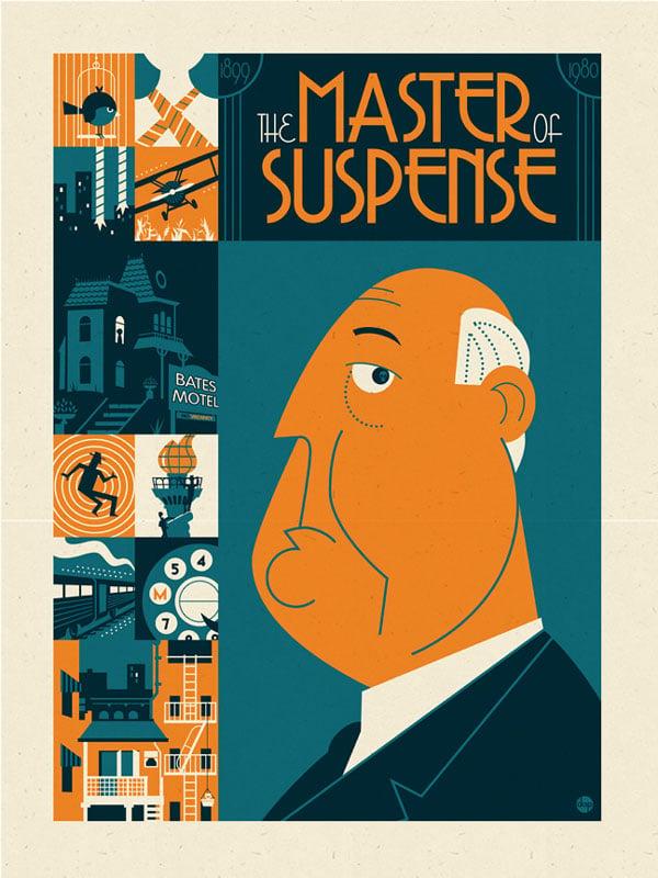 Alfred Hitchcock illustration
