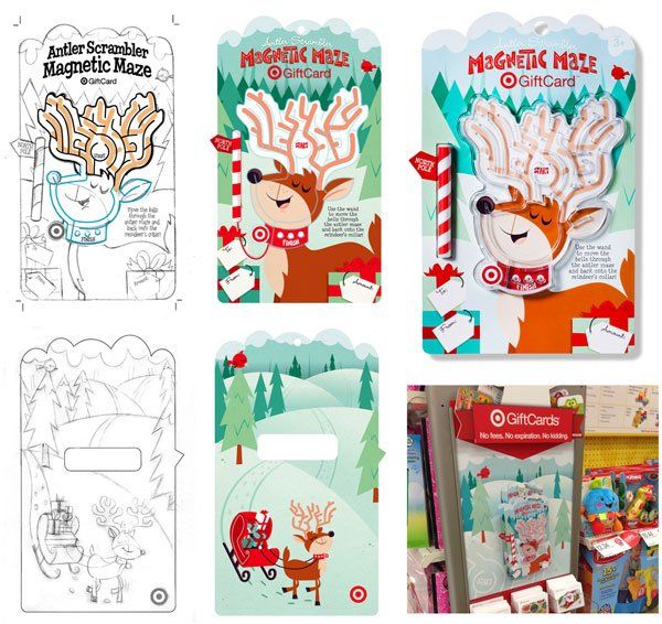 Design process for a Target gift card and display