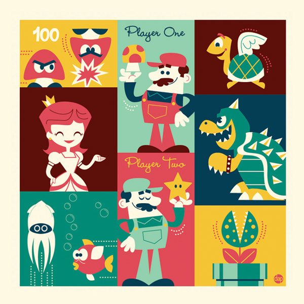 Super Mario Brothers Illustration