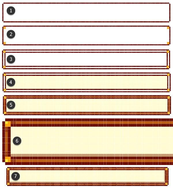 Drawing the frames for level gauges