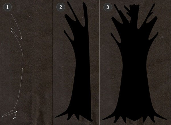 Draw your tree silhouette