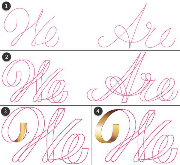 Additional methods for rendering lettering