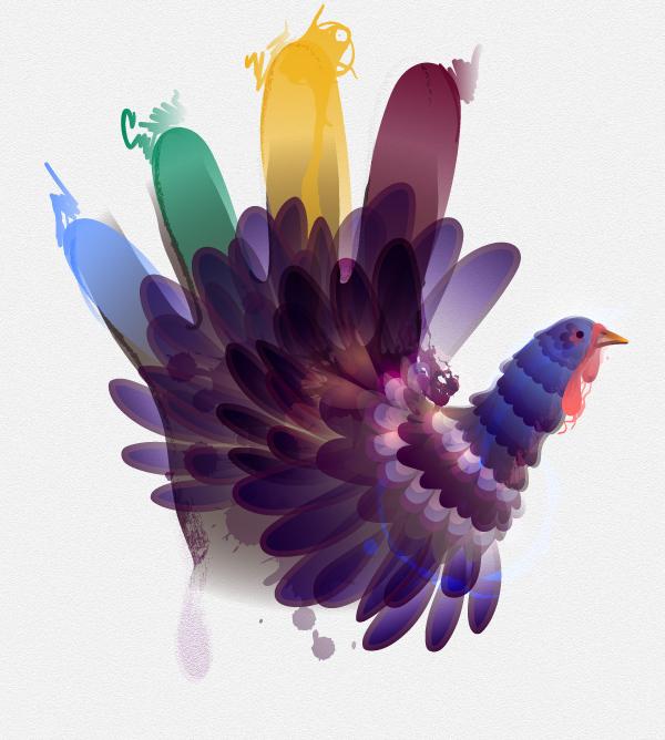 Final hand turkey design