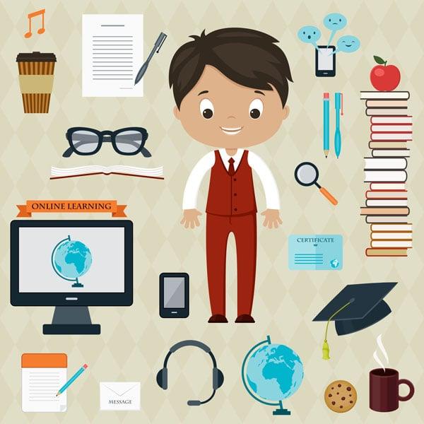 education boy design