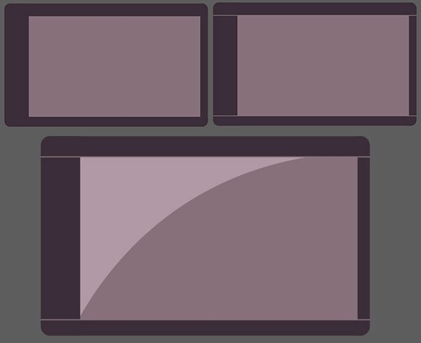 Use rectangles to create a graphic tablet design