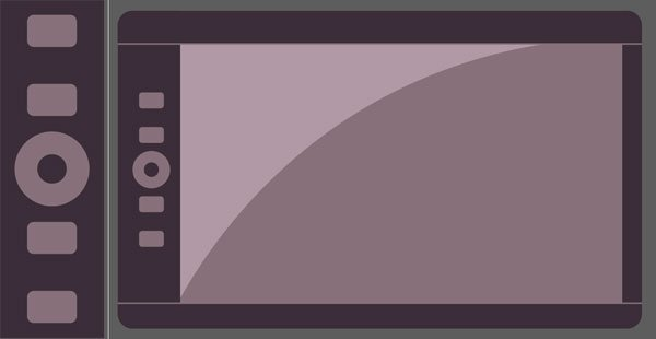 Draw little buttons on your graphic tablet design