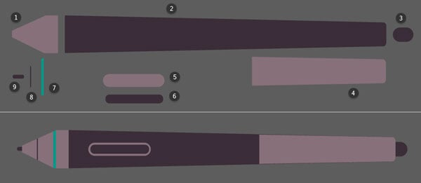 Putting together various rectangles to create a detailed stylus