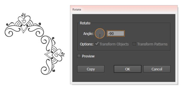 Rotate the components 90 degrees